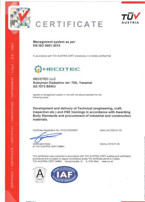 TUV-sertifikat